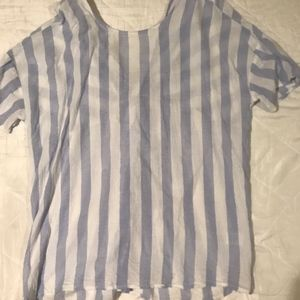Violet and White stripped blouse